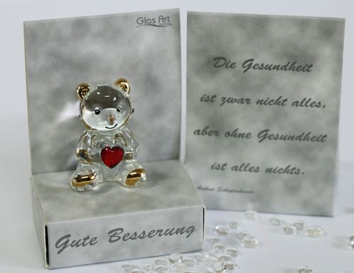 "Glas Teddybär "" Moments of Life"""